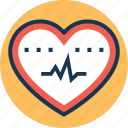 cardiogram, cardiography, heart beat, pulsation, pulse rate icon
