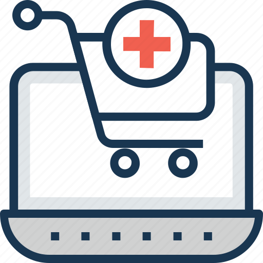 e-pharmacy, medical assistance, online medical service, online medicine, pharmacy cart icon