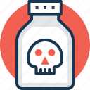 acid, chemical bottle, insecticide, poison, toxin icon