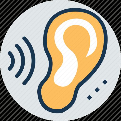 hearing, human ear, human organ, listening sense, otology icon