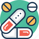 medical cure, medication, medicine, pills, tablet icon