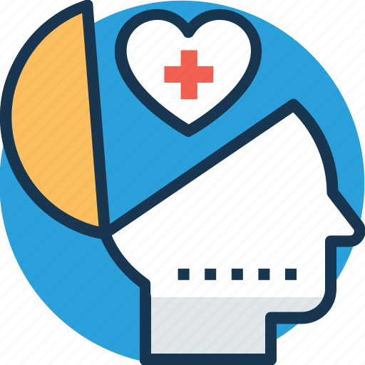 health service, mental health, primary care, psychology, service mind icon
