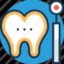 dental care, dental check up, dental mirror, dentist, oral hygiene icon