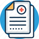 medical chart, medical history, medical report, patient information, prescription icon
