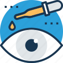 dropper, eye care, eye drops, eye infection, eye medication icon