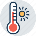 outdoor thermometer, temperature gauge, thermometer, weather instrument, weather thermometer icon