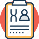 clinic visit, medical counseling, medical history, medical report, patient chart icon