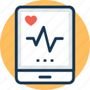 health app, heart beat, heart rate app, medical application, pulse monitor icon