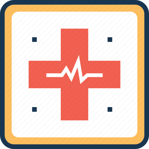 clinic, emergency, healthcare, hospital area, medical cross icon