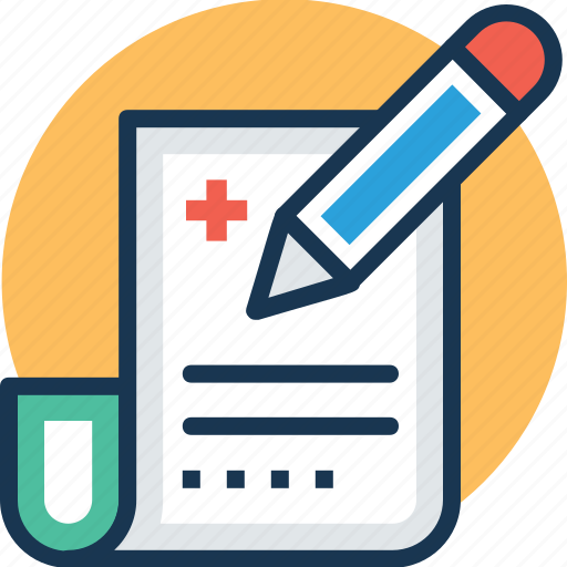 document, medical clipboard, patient card, prescription, rx icon