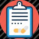 prescription, diet plan, patient card, rx, medical report