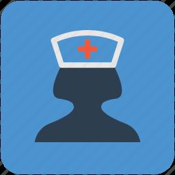 avatar, female nurse, medical assistant, nurse, profession icon