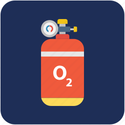 breathing gas, diving cylinder, gas cylinder, oxygen cylinder, scuba tank icon