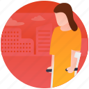 handicap walker, legs support, patient support, patient walker, rehabilitation icon