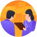 doctor suggestion, doctors precautions, medical treatment, patient treatment, tablets suggestions icon