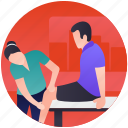bones doctor, exercise therapy, physical therapy, physical treatment, physiotherapist doctor icon