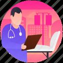 discharge file, discharge patient, dismissal patient, hospital discharge, recover patient icon