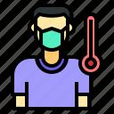 illness, fever, sick, temperature, thermometer, healthcare