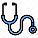 stethoscope, diagnosis, doctor, healthcare, medical, equipment