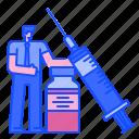 syringe, health, treatment, vaccine, injection, drug, medical