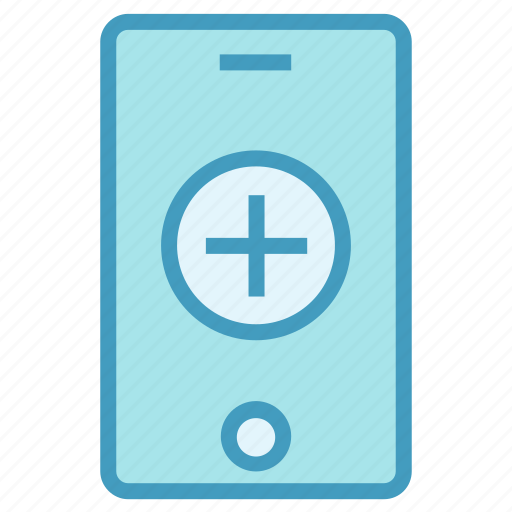 hospital, medical, mobile, online, plus icon