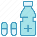 bottle, capsule, medical, pharmacy, pills