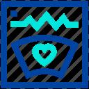 ecg, heartbeat, lifeline, machine, medical, pulse meter icon