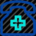 clinic, hospital, phone, telephone icon