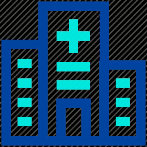 building, clinic, healthcare, hospital icon