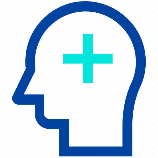 head, medical, mind, silhouette icon