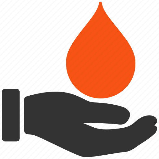 blood, charity, donate, donation, gift, hand, health, heart, medical, offer, present, support icon