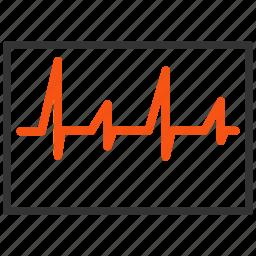 cardio, cardiogram, cardiology, chart, charts, clinic, doctor, emergency, graph, health, healthcare, heart, heart chart, hospital, medical, medicine, pulse icon