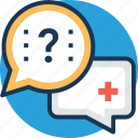doctor on call, emergency, medical assistance, medical faq, patient service icon