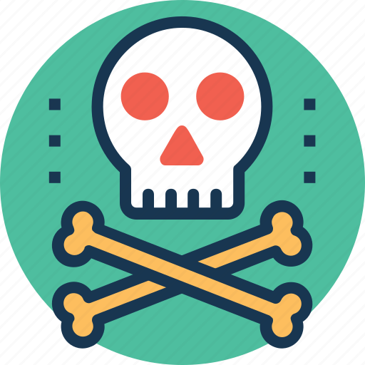 death, hazard, jolly roger, poison, toxin icon