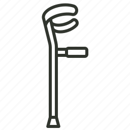 crutch, hand stick, health, medical, medical equipment, stick, walking stick icon
