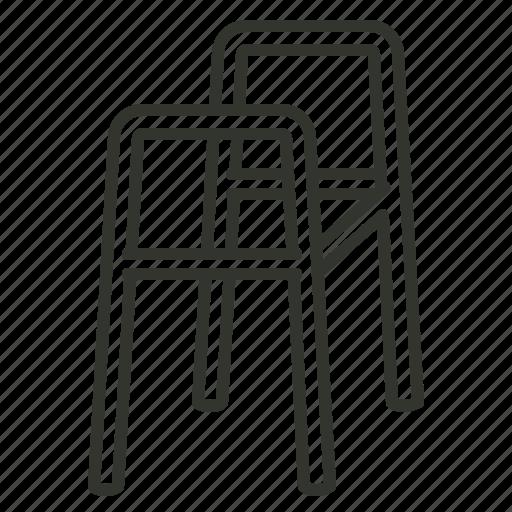 crutches, disability, equipment, health, medical, walker icon