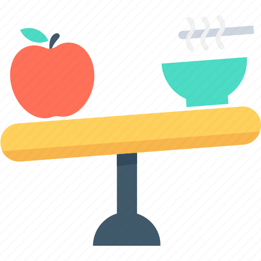 apple, balanced diet, dieting, healthy food, noodles icon