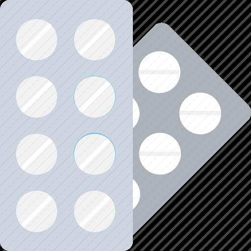 capsule, drugs, medication, pills, pills strip icon