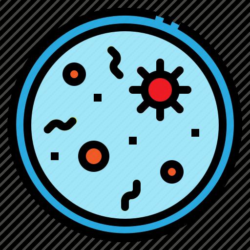 bacteria, fecal, parasite, sample, virus icon