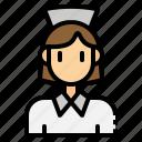 avatar, hospital, medical, nurse, women icon