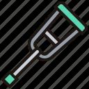 aid, crutches, health, hospital, medical icon