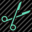 health, hospital, medical, scissor icon