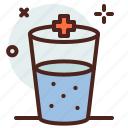 health, hospital, water icon