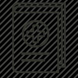 book, health, healthcare, medical, medical book icon