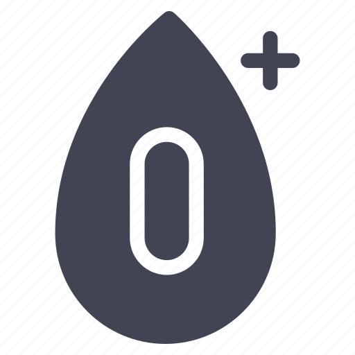 blood, healthcare, medical, o, positive, type icon