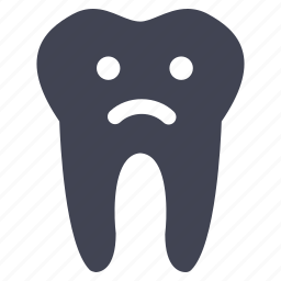 dental, dentist, healthcare, medical, sad, tooth icon