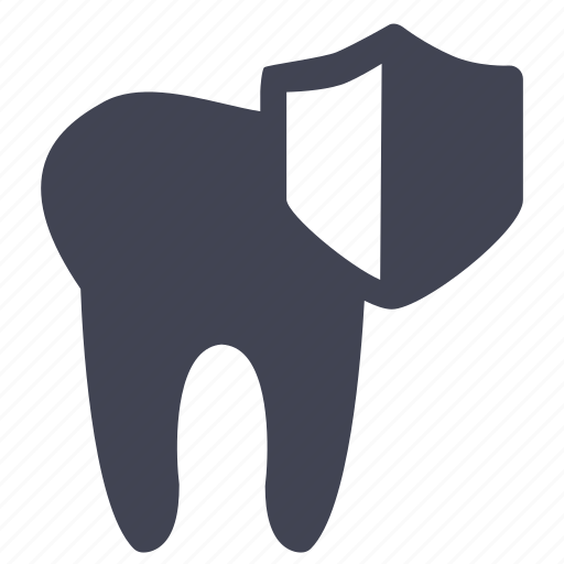 dental, dentist, medical, protection, security, shield, tooth icon