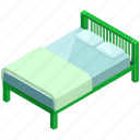 bed, furniture, health, healthcare, medical, rest, sleep icon