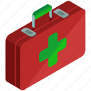 aid, box, first, health, healthcare, medical, suitcase icon