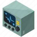 device, health, healthcare, heartrate, hospital, medical, monitor icon
